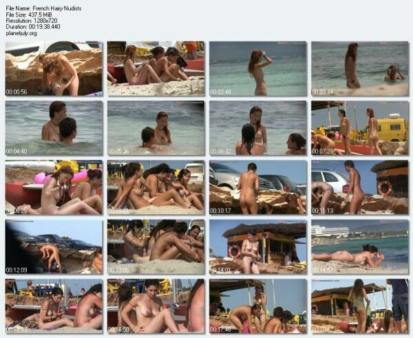 Nudist Beach Video French Hairy Nudists