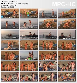 Young nudists on the Black Sea Nudist Family Holiday