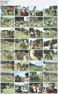 Horses and Bares Family nudism