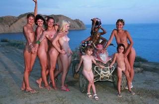 Blue Sky ATV Riding Family Nudism 2013